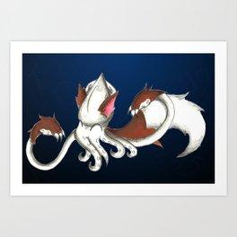 Squidwolf Art Print