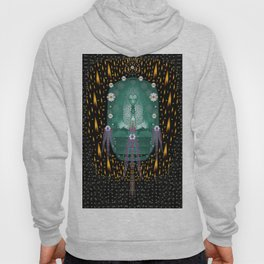 Temple of yoga in light peace and human namaste style Hoody