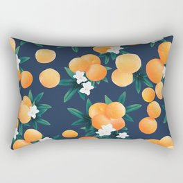 Orange Twist Flower Night Vibes #2 #tropical #fruit #decor #art #society6  Rectangular Pillow