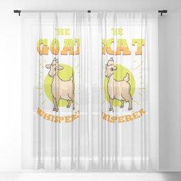 The Goat Whisperer For Goat Lover Sheer Curtain