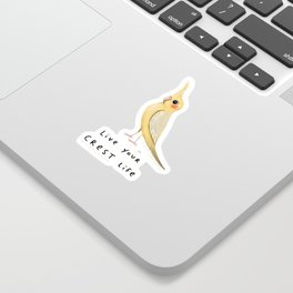 Live Your Crest Life Sticker
