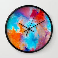 blush Wall Clocks featuring Blush by Kimsey Price