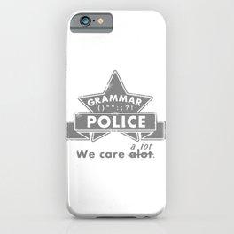 Grammar Police iPhone Case