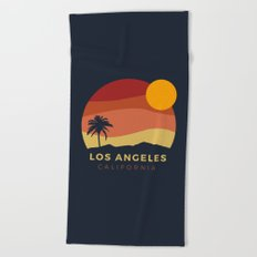 Los Angeles Sunset Beach Towel