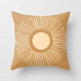 Sun Burst - Amber Gold Throw Pillow