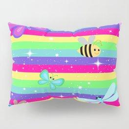 Butterflies & Rainbow Stripes Pillow Sham