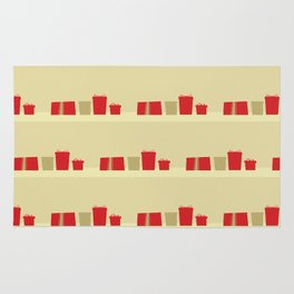 Retro Holiday Gifts Rug