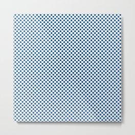 Lapis Blue Polka Dots Metal Print
