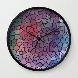 Jewel Tone Stained Glass Wall Clock