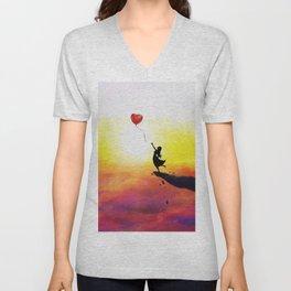 Catching Love Unisex V-Neck