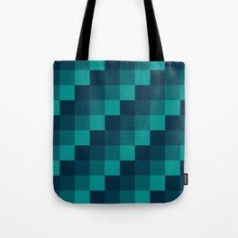 Ocean Waves - Pixel patten in dark blue Tote Bag