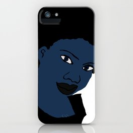 Love Your Beautiful Afro Blue Natural Hair iPhone Case
