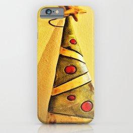 minimal Christmas tree ornament iPhone Case