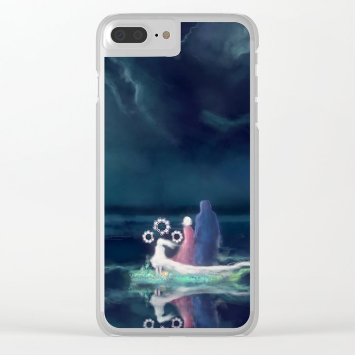 Night III - Moonsail Clear iPhone Case