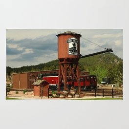 Water Tower Of The Black Hills Central Railroad Rug