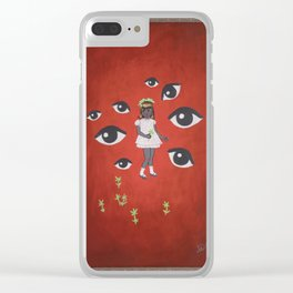 The Flower Picker Clear iPhone Case