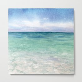 Watercolor Sea Landscape Metal Print