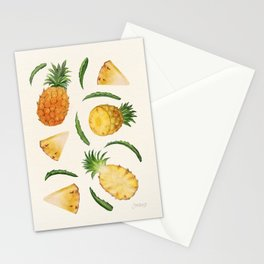 Pineapples and Slices Stationery Cards