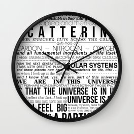 Neil DeGrasse Tyson Science Manifesto Wall Clock