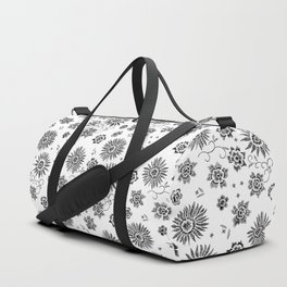 Flowers embroidery Duffle Bag