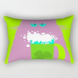 Saint Patrick's Day Lilac Cat Rectangular Pillow