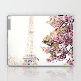 Cherry blossoms in Paris, Eiffel Towerr Laptop & iPad Skin