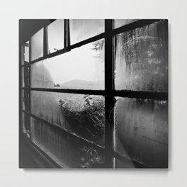 Loch Ness hostel window Metal Print