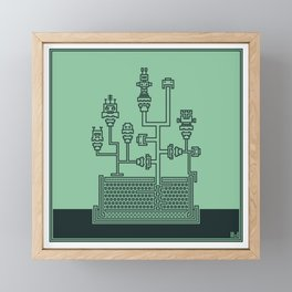 Planticular Robotic Framed Mini Art Print