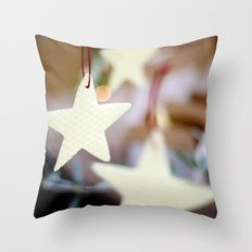 Christmas Stars Throw Pillow