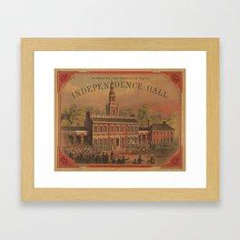 Vintage Independence Hall Illustration (1878) Framed Art Print