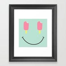Acid Cream Framed Art Print