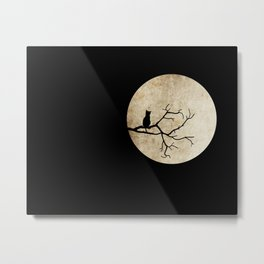 Bat night Metal Print
