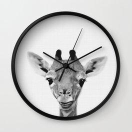 Giraffe Print, Safari Nursery Animal Wall Art Wall Clock