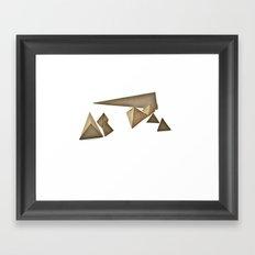 sand pyramids Framed Art Print