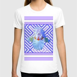 DECO LILAC PURPLE PASTEL IRIS PATTERN T-shirt
