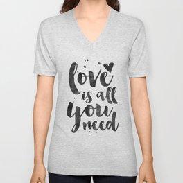 LOVE WALL DECOR, Love Is All You Need,Family Sign,Family Gift,Living Room Decor,Boyfriend Gift,Coupl Unisex V-Neck