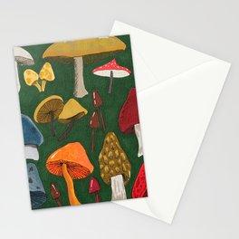 Mushroom Fungus Love Pattern Stationery Cards
