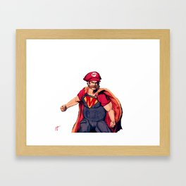 Super Mario Framed Art Print