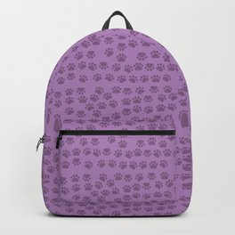 Dog Paws, Traces, Paw-prints - Purple Backpack