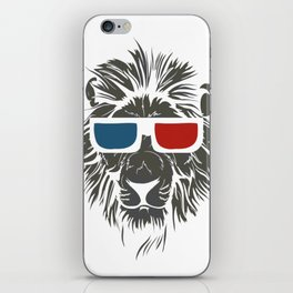 Lion with 3D sunglasses iPhone Skin