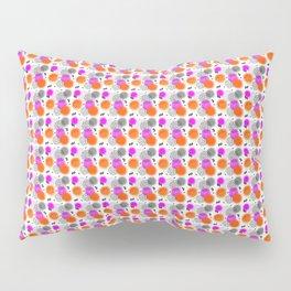 Modern Pink Orange Mix Memphis Abstract Pattern Pillow Sham