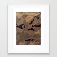 camo Framed Art Prints featuring Camo by Sheena Mohammadi