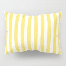 Yellow and White Cabana Stripes Palm Beach Preppy Pillow Sham