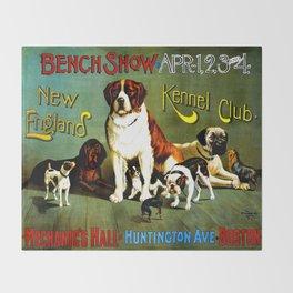 New England Dog Show 1890 Throw Blanket