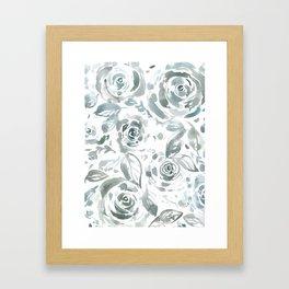 Evelyn Gray Floral Framed Art Print