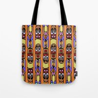 totem Tote Bags featuring Totem by Veronica Ventress