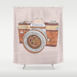 WOOD CAN0N Shower Curtain