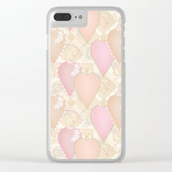 Retro . Valentine's Day . Clear iPhone Case