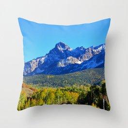 Mount Sneffels Colorado Throw Pillow