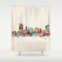 ohio Shower Curtains featuring toledo ohio  by bri.buckley